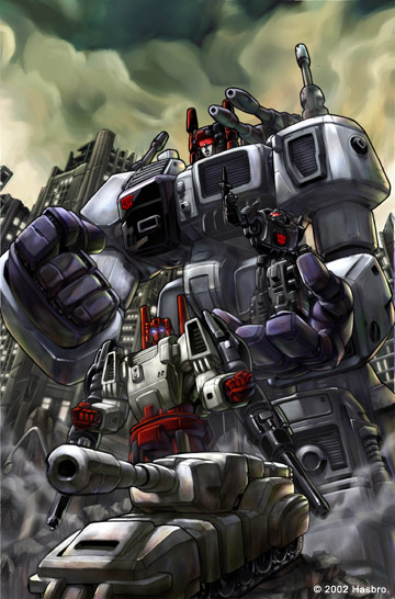 Metroplex, as illustrated by Dreamwave's Pat Lee and colored by Ramil Sunga